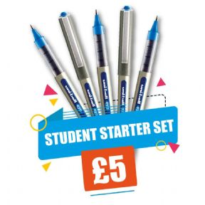 Uni-ball UB 157 Student Starter Set Blue Ink